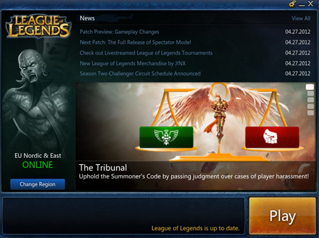 ���� ���� ���������� ������� League Of Legends